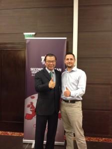 Dr. Limmel, a DXN alapító elnökével